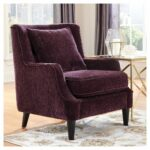 velvet accent chair purple donny osmond home products chairs for dining room table bar furniture black outdoor swing bunnings floating side solid wood threshold folding coffee 150x150