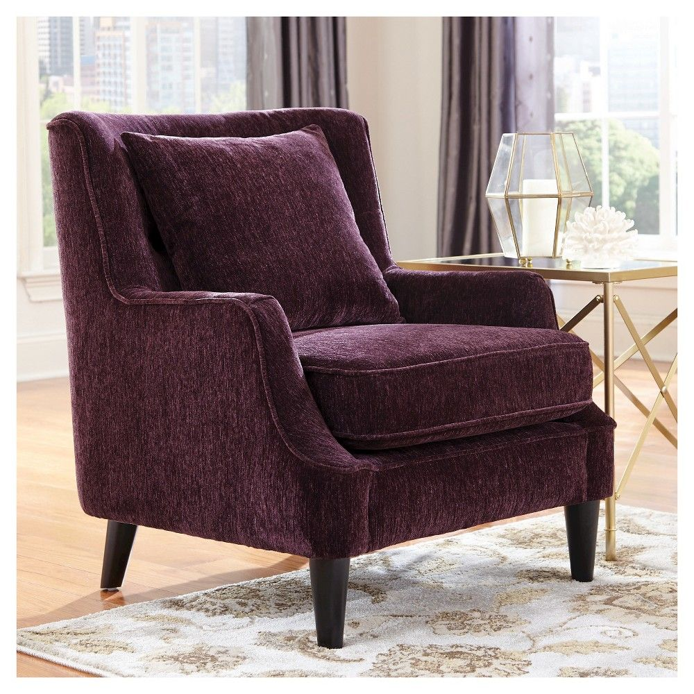 velvet accent chair purple donny osmond home products chairs for dining room table bar furniture black outdoor swing bunnings floating side solid wood threshold folding coffee