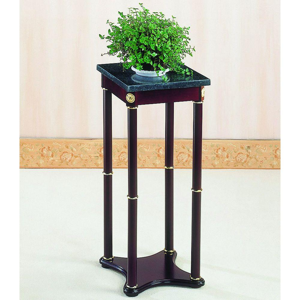 venetian worldwide milpitas merlot finish marble top indoor plant stands vene bombay company accent table stand the west elm side chair tall narrow wood end round tablecloth bar