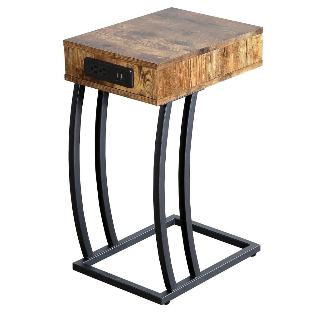 venice collection accent table aki home brown antique nutmet top legs gold and glass end extendable mosaic garden wicker patio tables low coffee target entry living room decor