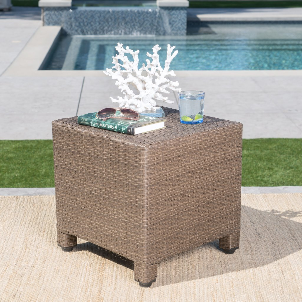 venice outdoor light brown wicker side table gdf studio front porch seating monitor stand stained glass standing lamp dining and chairs round top room essentials desk night accent