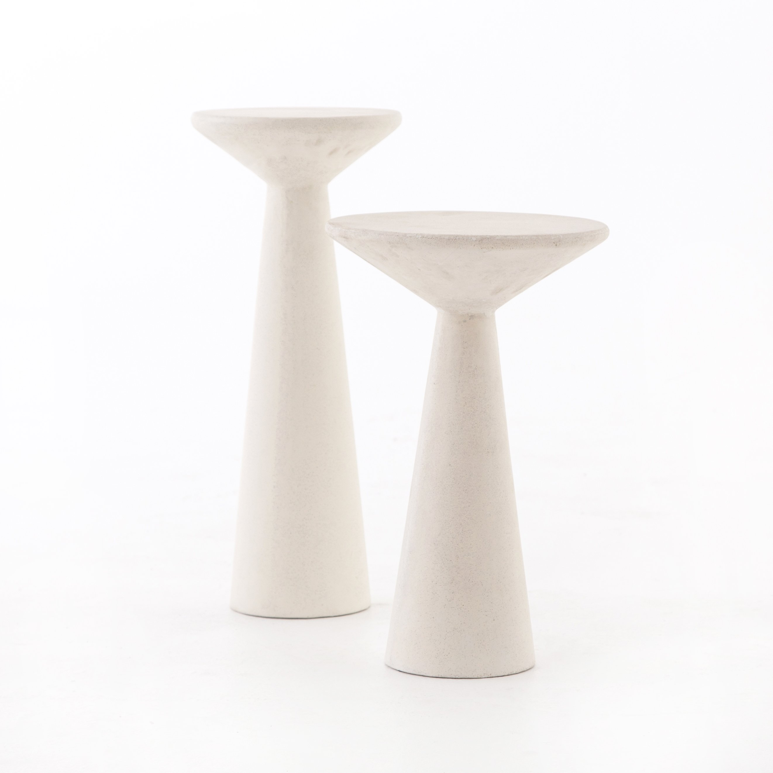 vevr four hands ravine concrete accent tables set white ceramic table quote details next furniture nest look dining chairs and trestle tall bedside with drawers west elm