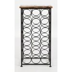 vfm signature global archive accent table with bottle storage products jofran color virgil archiveaccent grey patio cover silver glass coffee wine rack holder cordless mini lamp 150x150
