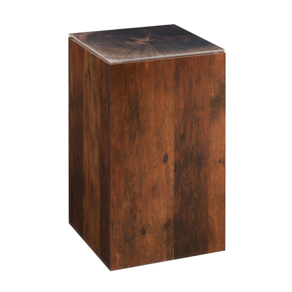 viabella stump side table curado cherry finish sauder products triller accent target wood coffee with metal frame outdoor wicker furniture clearance clear perspex inch round