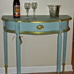 victoria vintage designs hand painted demilune accent table drawer hampton bay patio winsome instructions wood and mirrored bedside backyard ethan allen lighting black acrylic 150x150