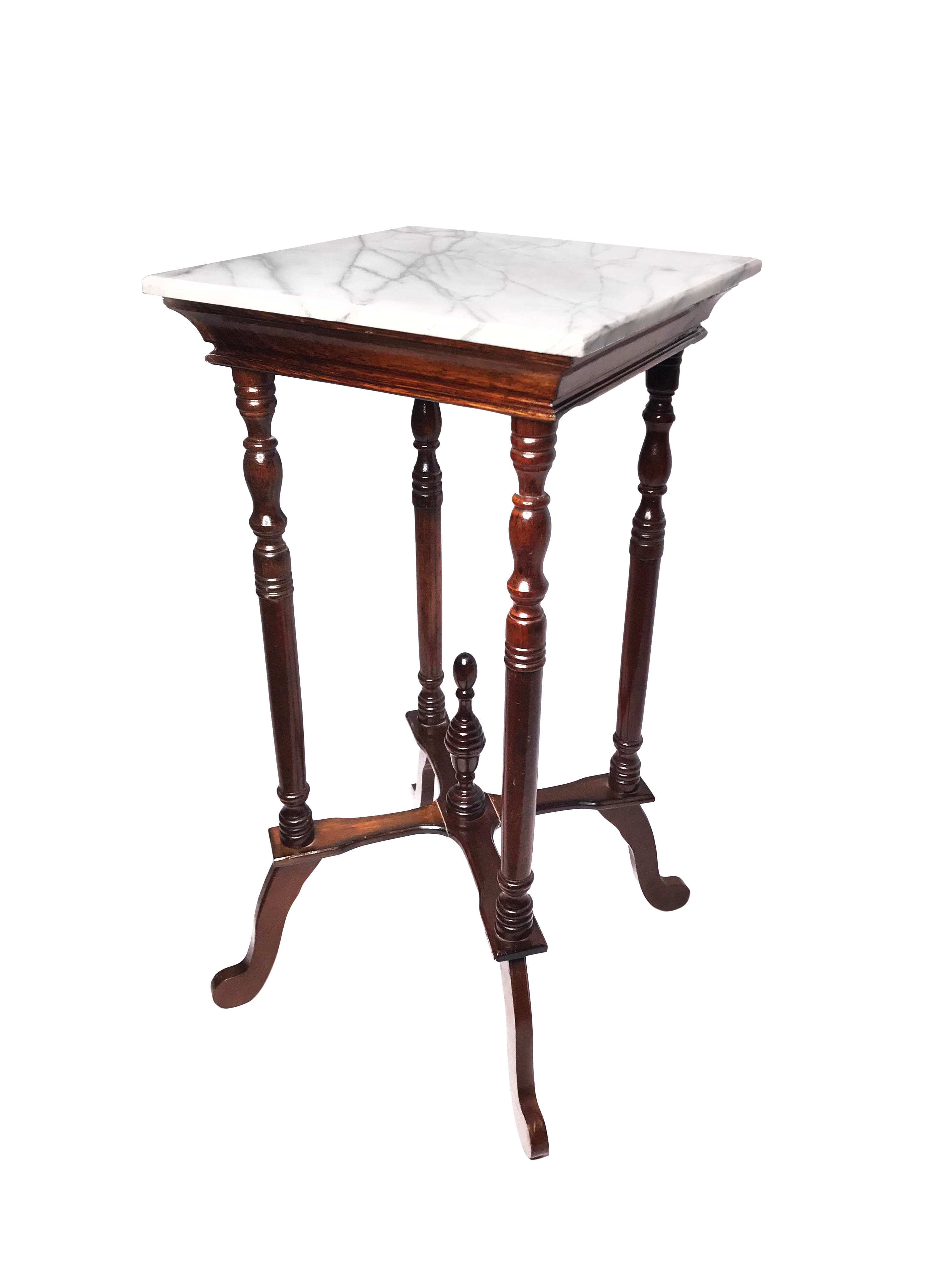 victorian elegant tall marble top wooden accent table chairish square ikea kids wall storage corner side pink cocktails acrylic console living room units threshold mirrored with