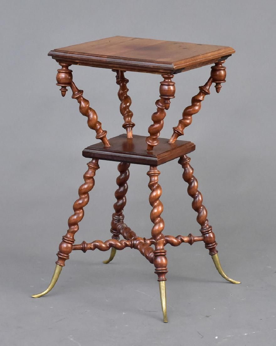 victorian parlor table accent tables brothers furniture parlour living end edmonton height white round pedestal side retro orange chair espresso wine cube sofa ikea room inch