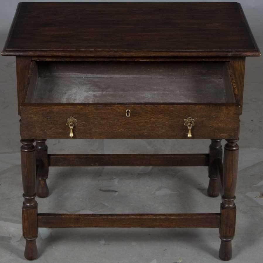 victorian period antique side end lamp accent table with drawer dark wood tables edmonton runner sewing pattern sams patio furniture threshold mango tall round kitchen small for