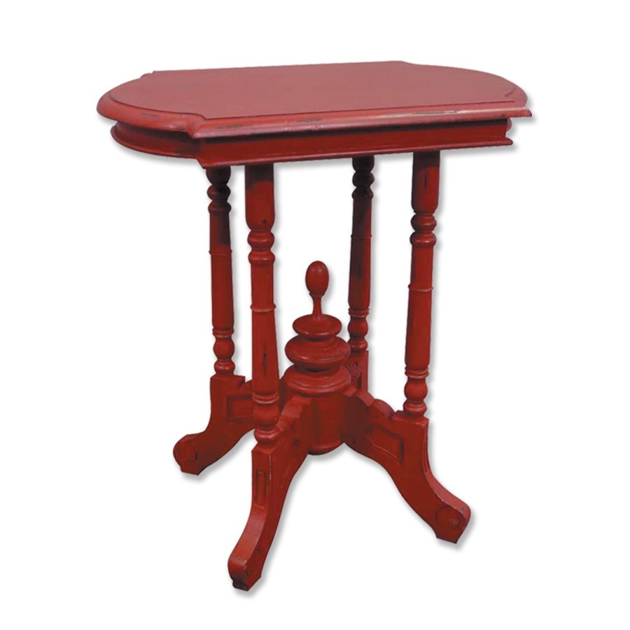 victorian side table red accent tables tradewinds furniture metal antique wood coffee sofa legs rattan willow glass bistro wooden plant stand bedroom sets cocktail dorm room ideas