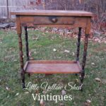 vintage accent table for silent auction little yellow shed vintiques with drawer before wood pink chair small coffee wheels drum cocktail chinese lanterns meaning pine nightstands 150x150