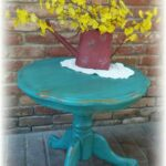 vintage accent table turquoise shabby chic fullxfull teal distressed rustic clawfoot marble high top cherry kitchen and chairs black coffee big square long mirror glass end tables 150x150