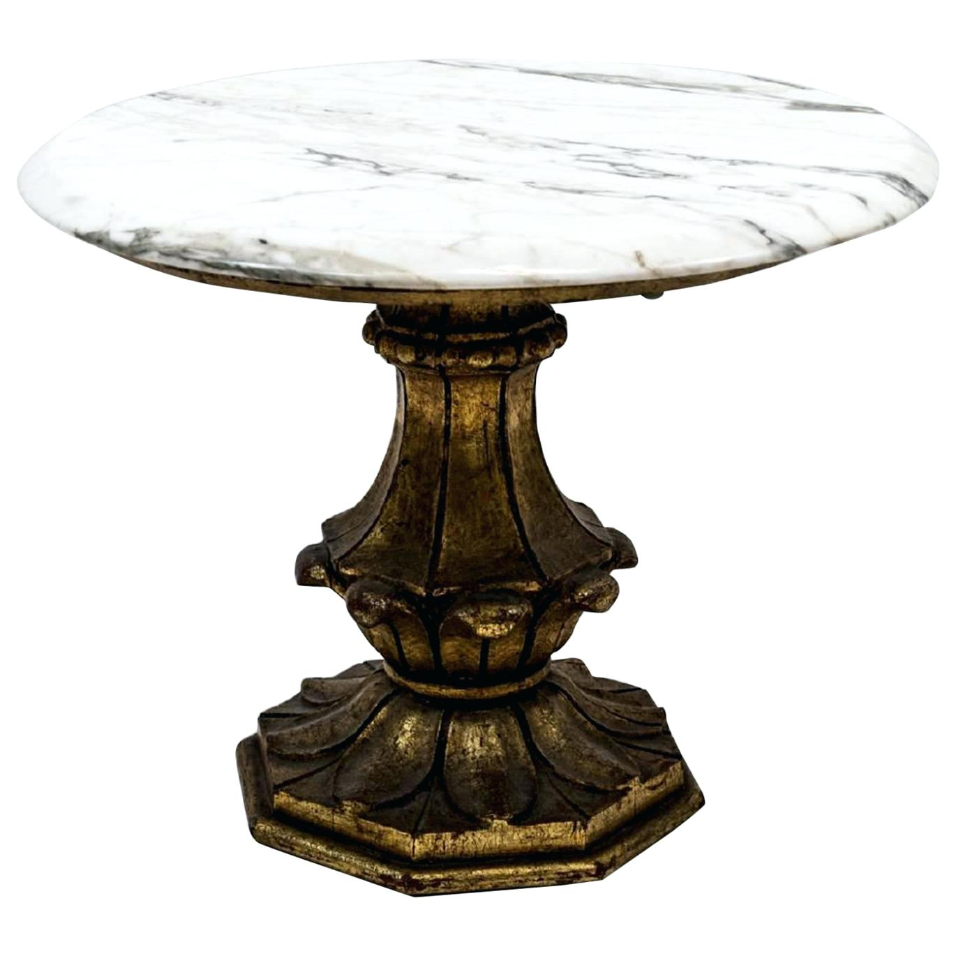 vintage accent table wood with marble top and ornate brass accents round base tables antique pedestal metal modern side killian west elm leather couch christmas tablecloths