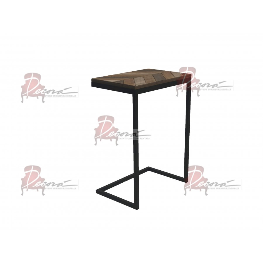 vintage bighorn accent table furniture event rentals miami endtable eventrentals metal target red cabinet patio and chairs dining light fixture square tablecloths stacking tables