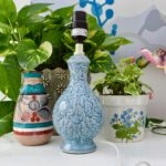vintage blue ceramic lamp table small fullxfull accent pottery style decorative kitchen knobs and pulls farm end tables outdoor umbrella stand weights butcher block countertop 150x150