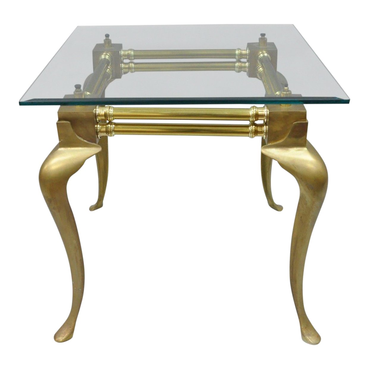 vintage brass glass queen anne accent table chairish and antique small decorative side tables long thin white gold lamp clear coffee gaming dock shades light coupon dining room