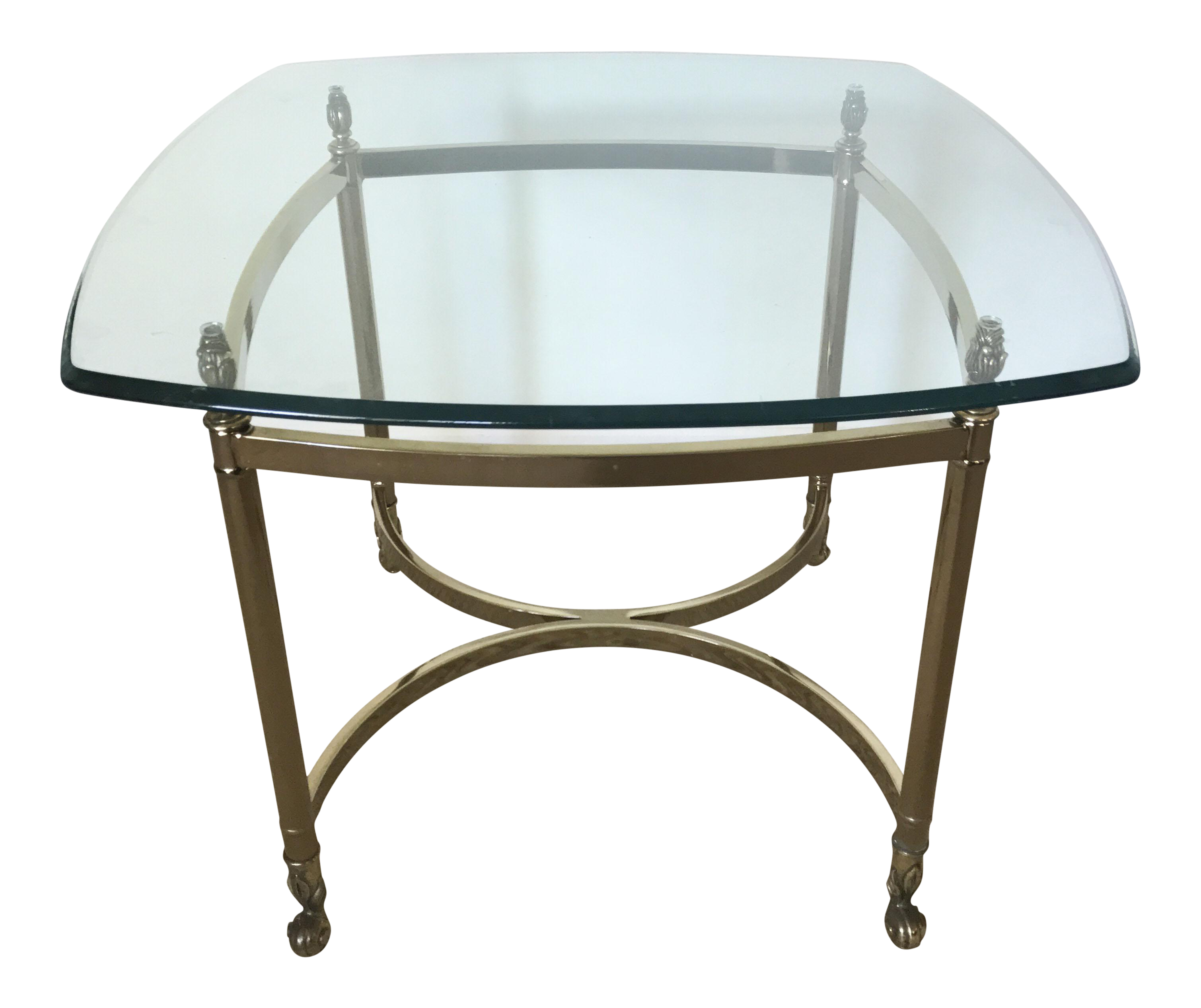 vintage brass glass square side table chairish and end beige tablecloth coffee console sets double dog crate for lamp very narrow accent protector concrete dining black top that