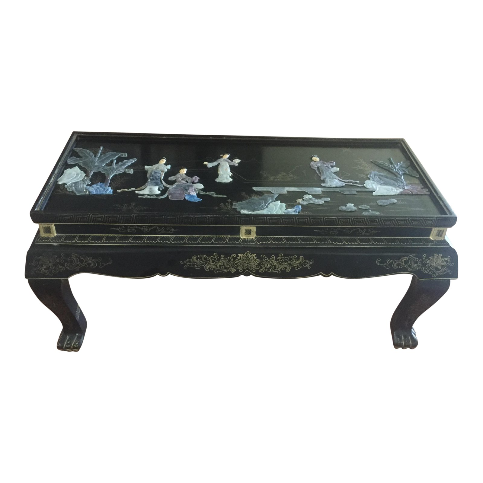 vintage chinese black lacquer chinoiserie folding coffee table accent chairish modern wooden designs cool end ideas inch high truck tool box tablecloths and placemats trunk round