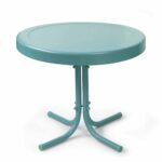 vintage end table with drawer the outrageous beautiful teal round crosley furniture retro metal side inch trunk box threshold mirrored accent ikea frame shelf steel coffee base 150x150