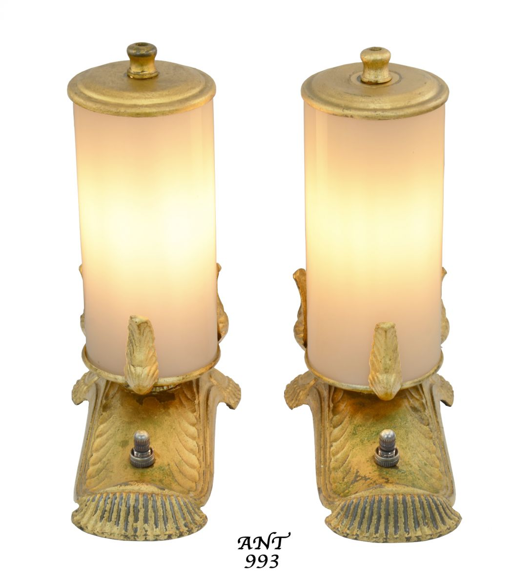 vintage hardware lighting unusual edwardian style small accent ant table lights alternate view description mirrored console with drawers led for home white wood nightstand end