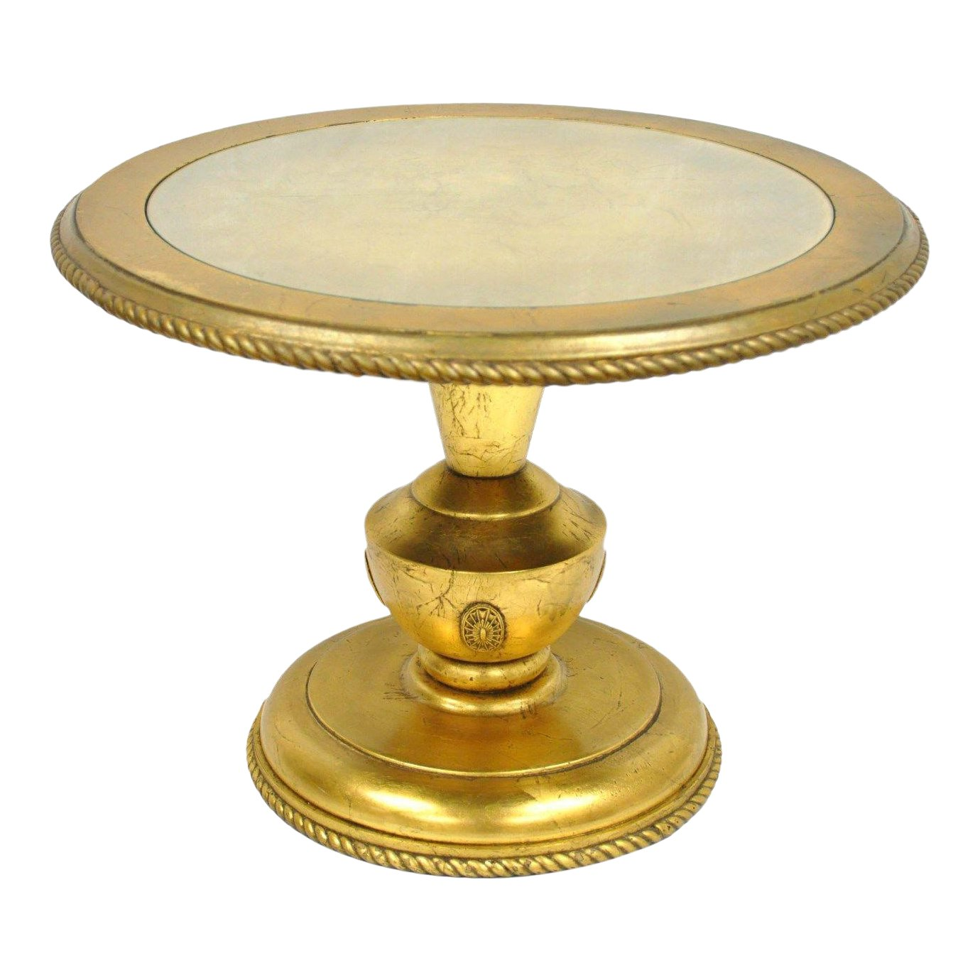 vintage hollywood regency french style gold gilt wood urn side accent end table chairish stools bunnings small outdoor bench home decor mirrors coffee with power nesting glass