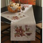 vintage inspired maple and butterfly fall table settings placemat runner lifestyle accent autumn tabletop accents wicker lawn furniture cast aluminum side gold glass nautical post 150x150