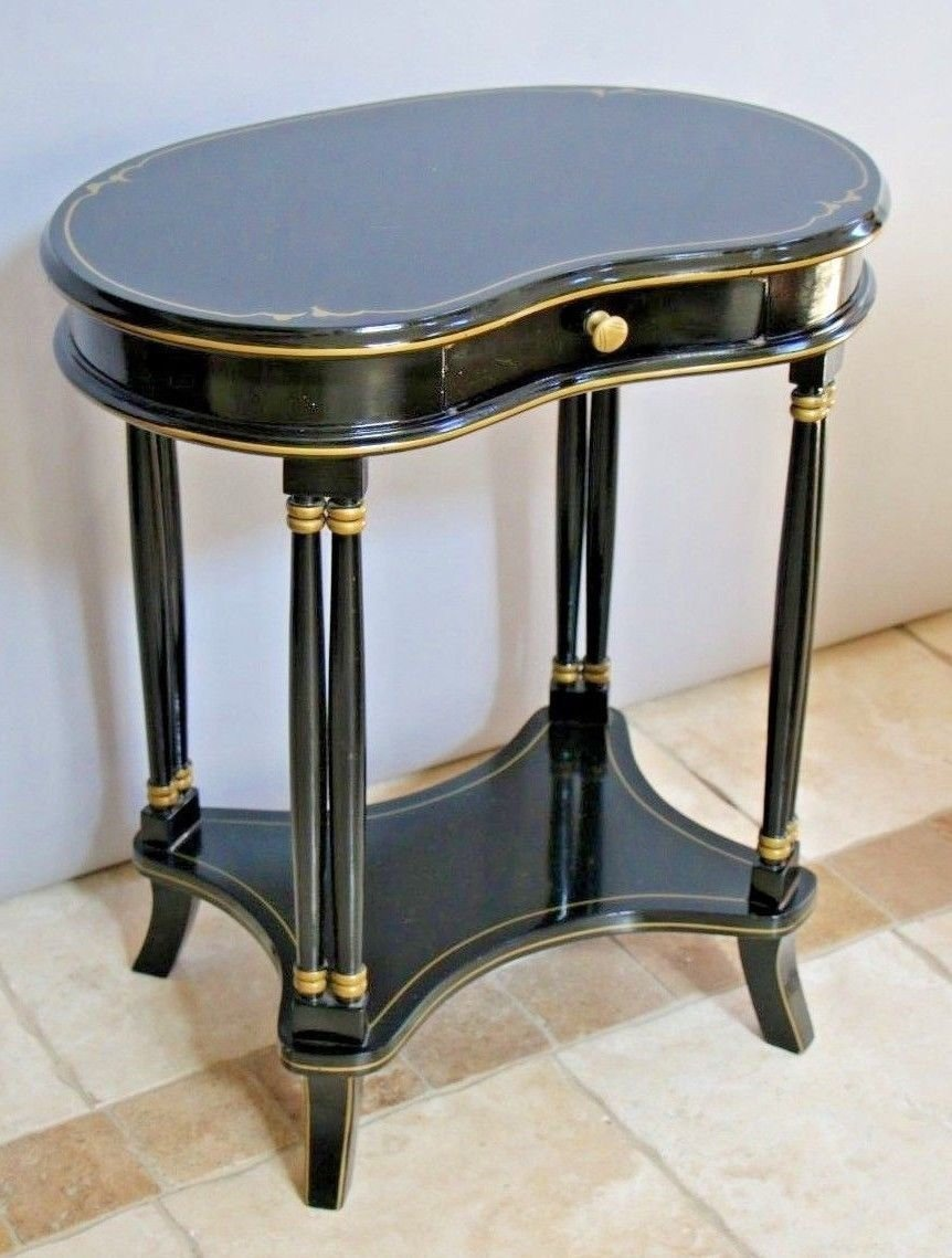 vintage kidney shape side table neoclassical ian revival etsy fullxfull shaped accent ikea high nautical theme piece nest tables marble threshold kitchen sets with bench leick