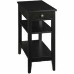 vintage looking end tables the super fun black side table with accent drawers tall storage best elegant wood tier drawer for your living room design inch high linens bedside ideas 150x150