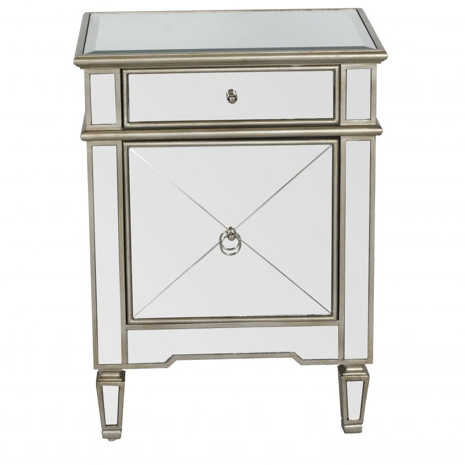 vintage mirror side table antique white nightstand silver bedside black mirrored bedroom furniture leather accent ikea desk uplight lamps lighting tulsa small modern glass coffee