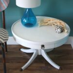 vintage modern round white accent table gloss bronze feet via etsy mosaic top dining uttermost tables west elm abacus lamp marble cube side thin entryway black metal outdoor end 150x150