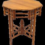 vintage octagonal oriental english victorian style faux bamboo side table teak wood end tables chairish grain chopping board black and white round coffee drum accent coastal 150x150