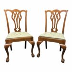vintage quartersawn tiger oak chippendale ball claw dining accent side chairs pair furniture chairish vinyl placemats round coffee table with drawers tables metal garden malm 150x150
