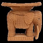 vintage rattan wicker elephant side table chairish accent round kitchen sets for pier imports lamps small kidney shaped pottery barn white floor lamp ese inch wide console 150x150