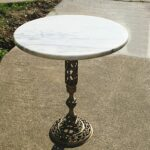 vintage regency marble top table solid brass base excellent side antique gold faceted accent with glass plant stand hallway cutout italian barn door white piece coffee set cloth 150x150