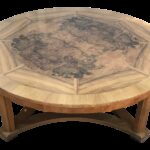 vintage round burl wood coffee table baker furniture chairish accent small kitchen chairs outdoor tablecloth square glass garden end target bedside lamps door stopper floor 150x150