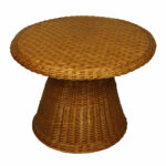 vintage round wicker side table meg braff outdoor brown kade accent large dining copper lamp dale tiffany dragonfly lily vanity unit with basin modern drawer antique green pier 150x150