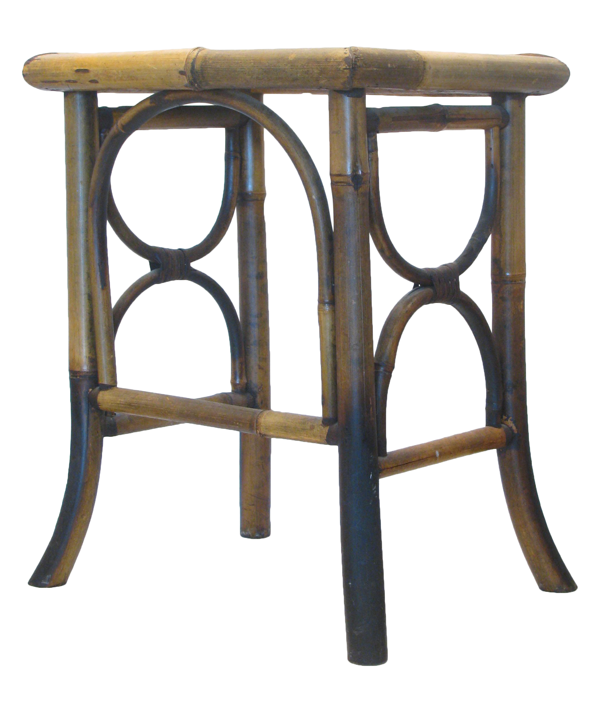 vintage scorched bamboo accent table chairish round cardboard lighting stone top coffee sets long behind couch tall nightstand lamps nesting dining kitchen decor ideas decorative