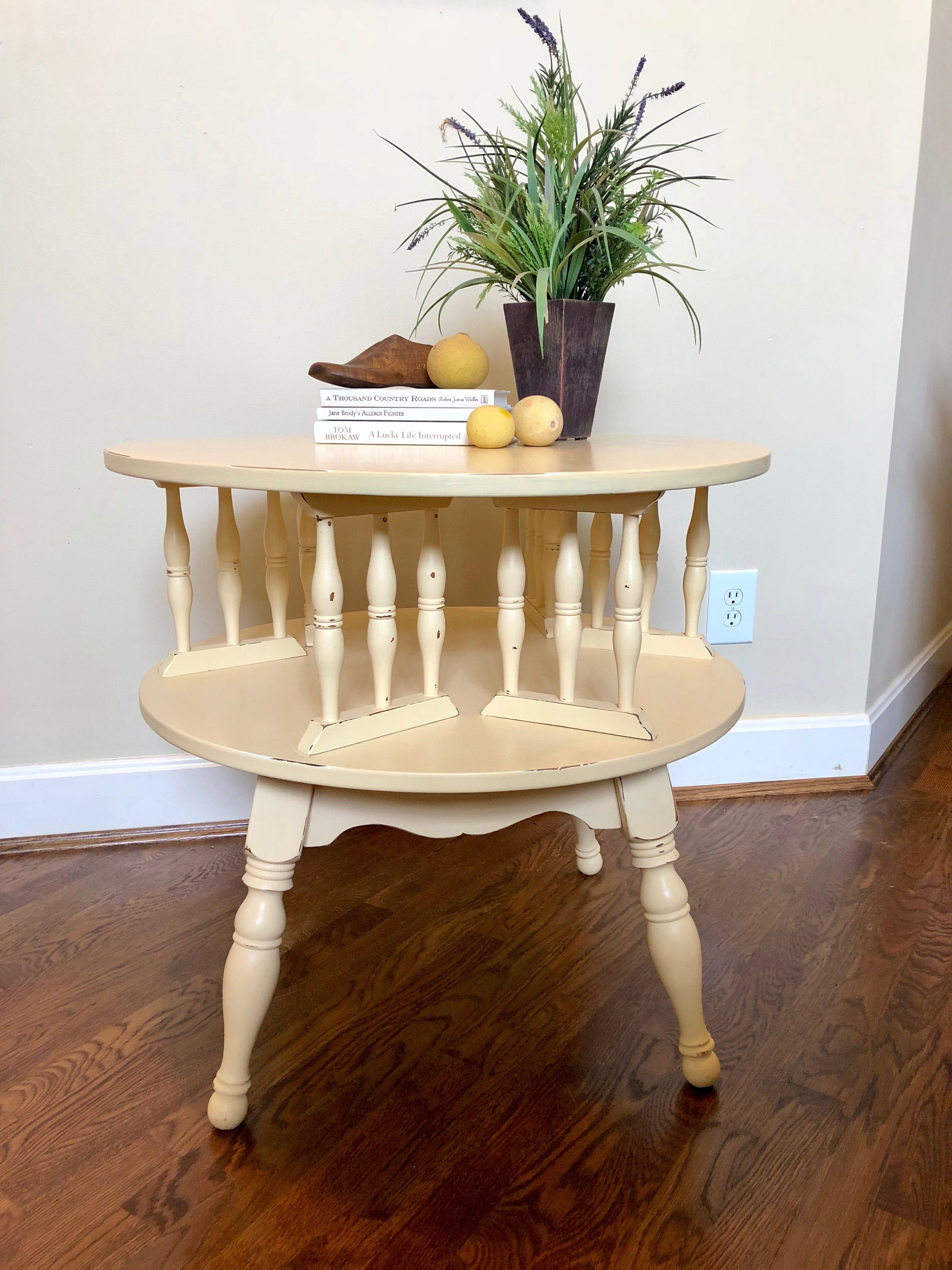 vintage side table accent painted bedside etsy fullxfull wood small end tables modern low coffee battery standard lamp homesense dining chairs house and home decorating french