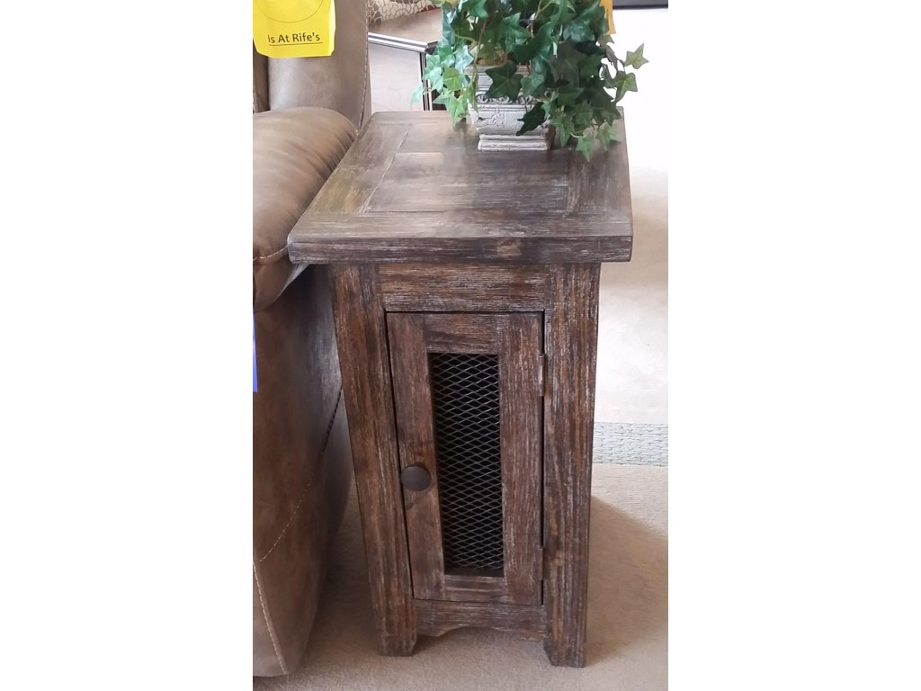 vintage side table with mesh door barnwood rife home products color furniture eugene accent coastal floor lamps screw legs slim end tables target threshold chair dining set wood