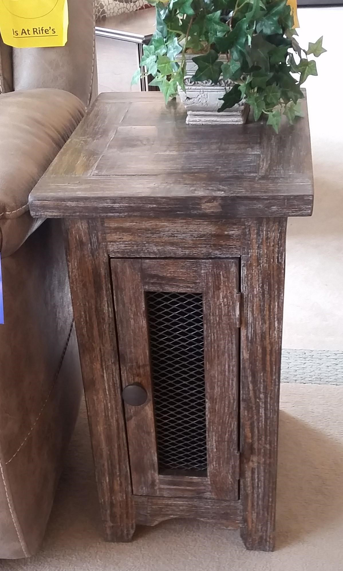 vintage side table with mesh door barnwood rife home products color furniture eugene accent target threshold console outdoor patio and chairs tall black nightstand metal virgil