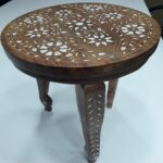 vintage table small wooden side decor end accent inlaid oriental living glass top patio dining with stools painted cabinets home interiors catalog wicker basket half circle 150x150