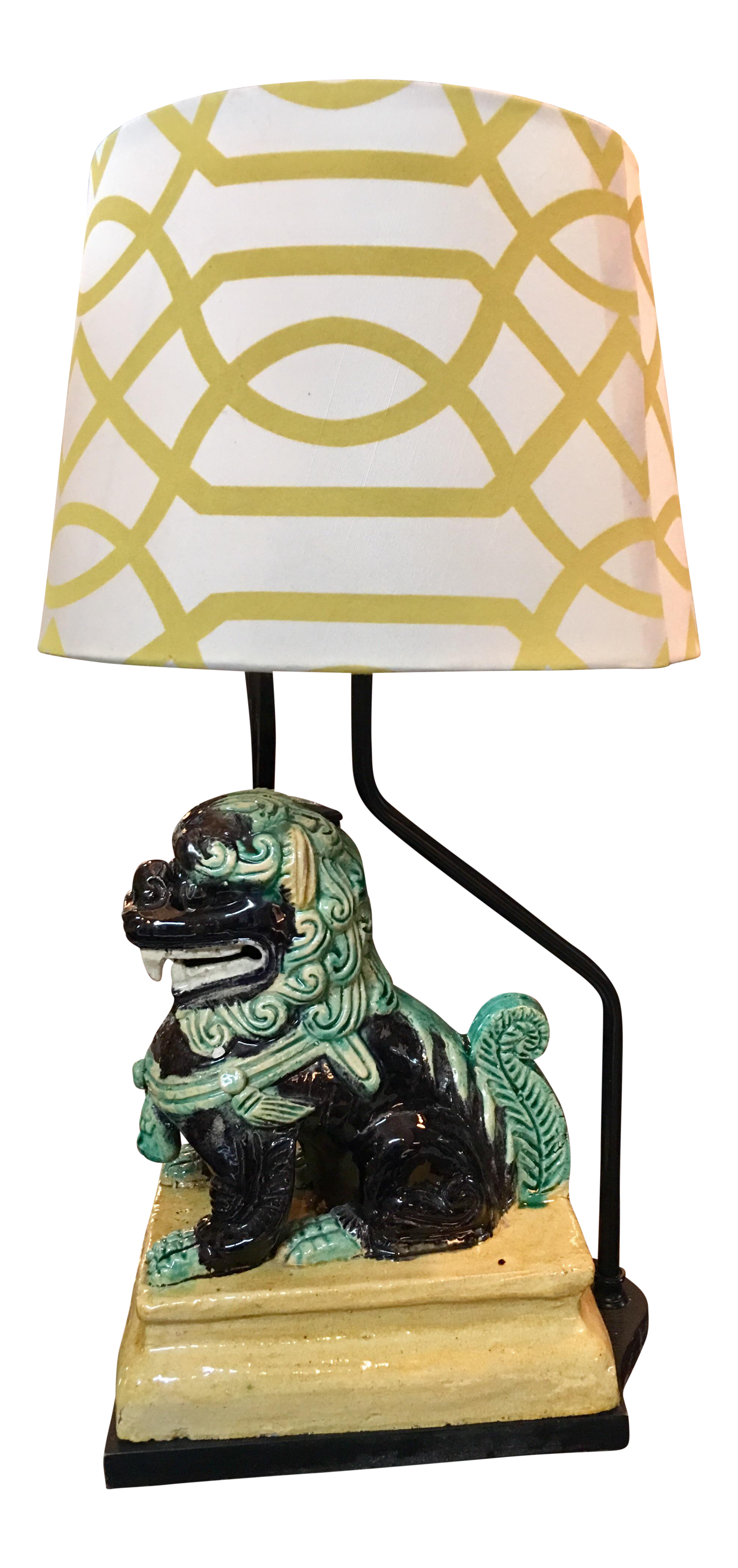 vintage used chinese table lamps chairish foo dog lamp oriental accent chest cupboard grey metal side outdoor drum standard end height small mirrored nightstand wooden with