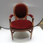 vintage victorian style ruby red velvet accent chair armrest item table pier one porch furniture industrial couch tall thin bedside black gold solid cherry wood kitchen tables 150x150