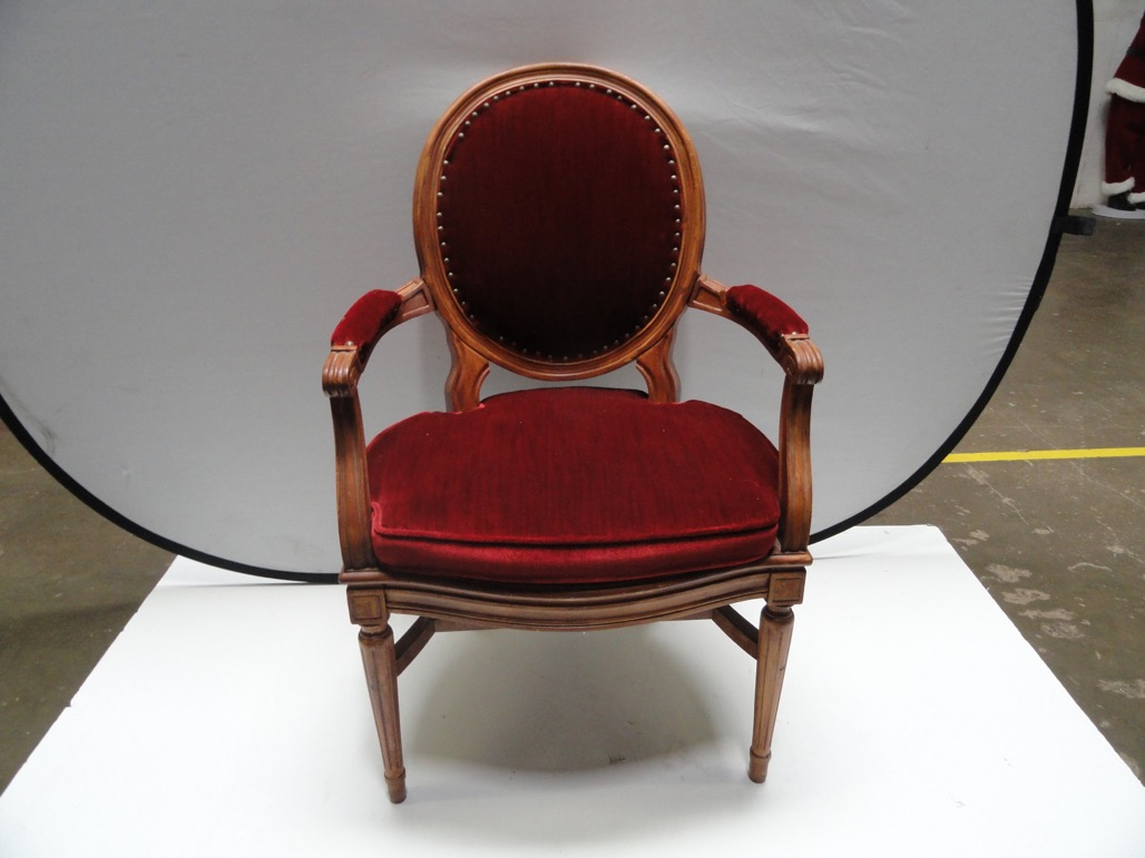 vintage victorian style ruby red velvet accent chair armrest item table pier one porch furniture industrial couch tall thin bedside black gold solid cherry wood kitchen tables