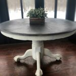 vintage wooden accent table rustic entryway farmhouse dining room country furniture console expandable round kitchen triangular end wood barnwood decorative accents for living 150x150