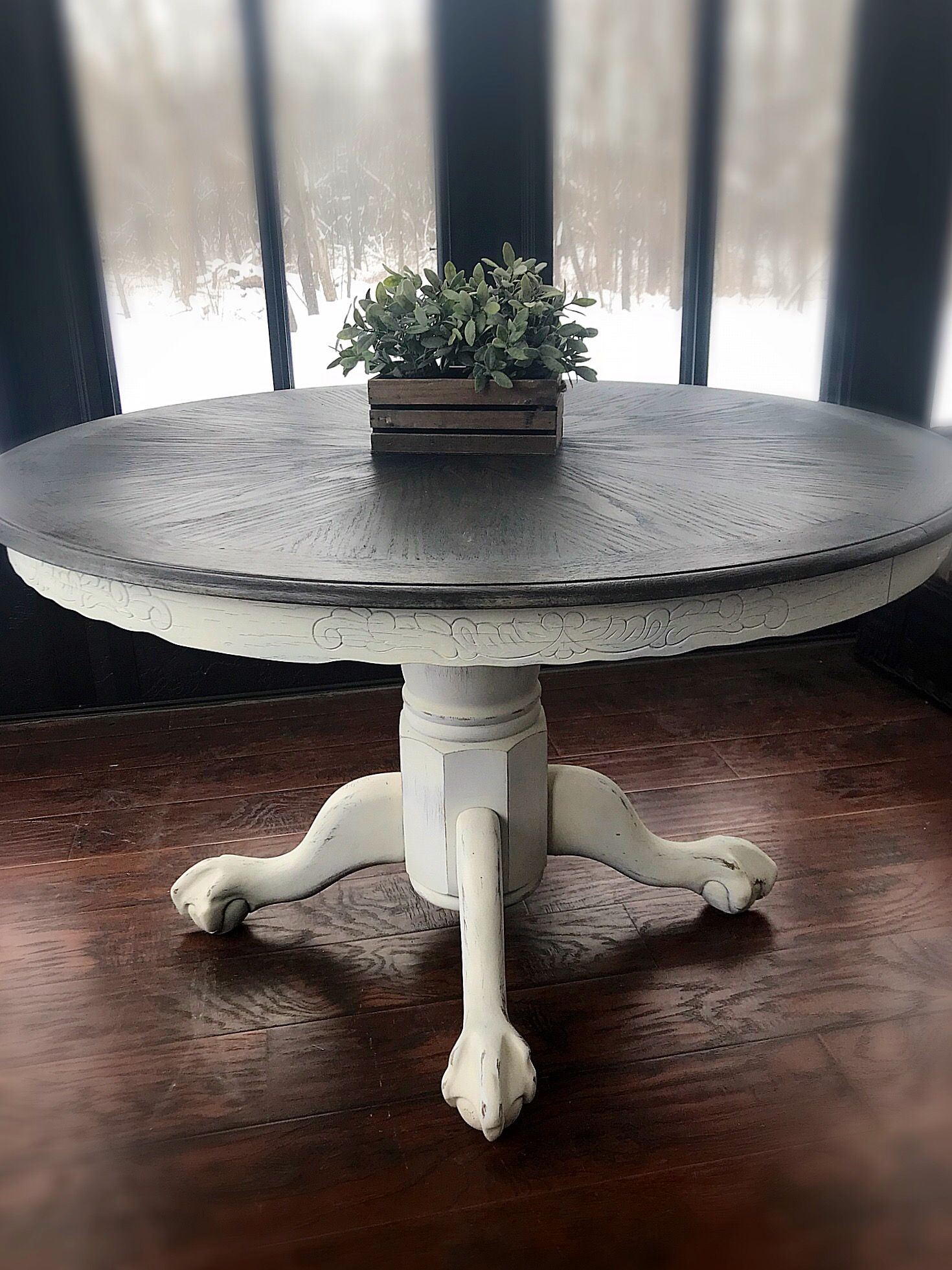 vintage wooden accent table rustic entryway farmhouse dining room country furniture console expandable round kitchen triangular end wood barnwood decorative accents for living