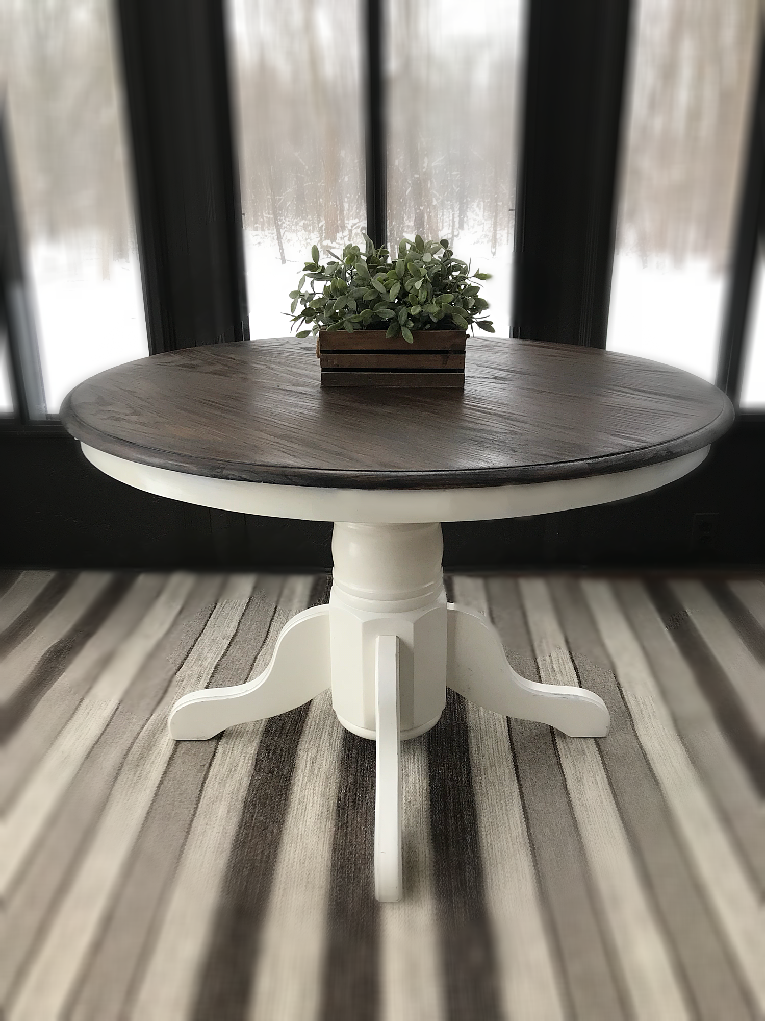 vintage wooden accent table rustic entryway farmhouse wood country furniture console expandable round kitchen steel coffee clermont slate small wheels distressed white brown