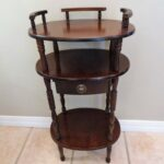 vintage wooden side table shelf old telephone etsy fullxfull antique accent quality patio furniture keter cooler piece coffee set extra long narrow console brown wicker shelby 150x150