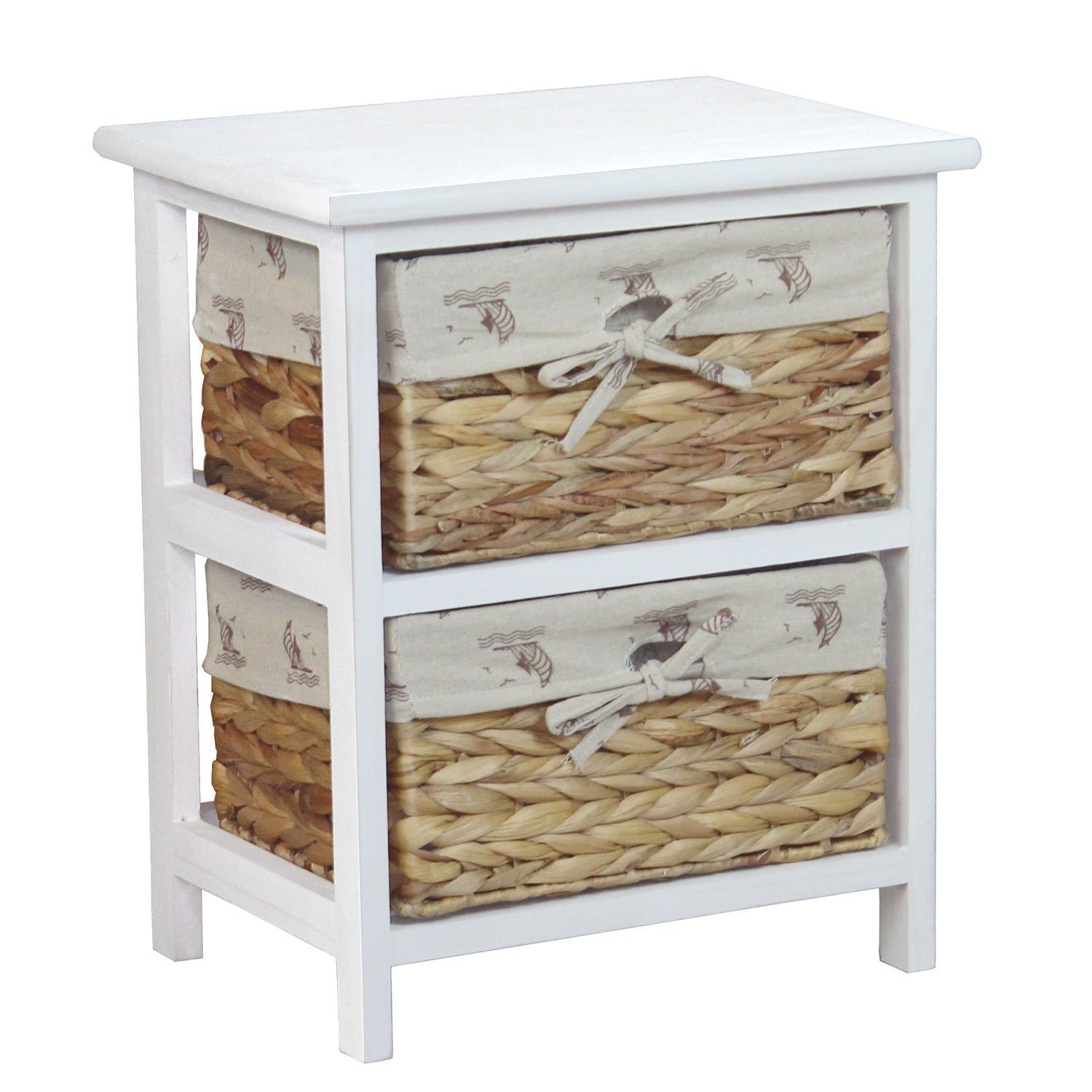 vintiquewise nightstand cabinet chest with basket drawers accent table drawer plant pedestal wooden threshold plates tall narrow hallway target acrylic ikea wood side thin sofa