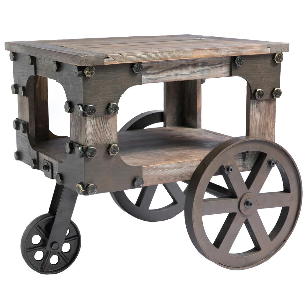 vintiquewise rustic industrial style wagon small end table with tables accent wheels storage shelf and the interior home decoration outdoor patio chairs circle adjustable beds