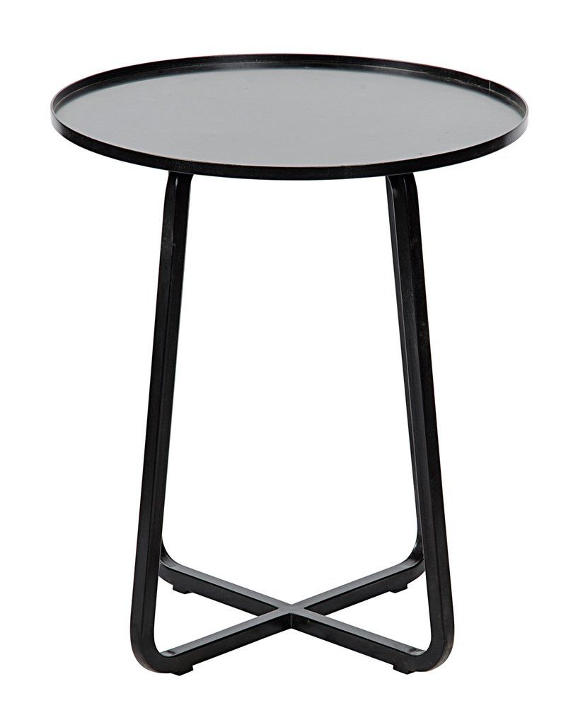 viola side table black apt update duke accent pottery barn just the right modern piece you need for subtle storage and display space your home adds touch drama with its metal